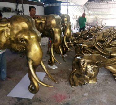 หัวช้างสีทองเหลือง